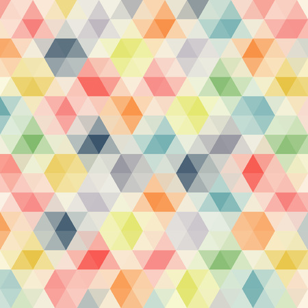 pattern of geometric shapes: Multicolored angular wattled pattern background. Geometric bonded retro mosaic.