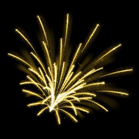 amarillo y negro: Oro brillante chispa de fuegos artificiales explosiones