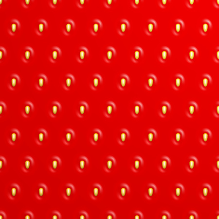 Seamless strawberry texture, Vector background Ilustracja