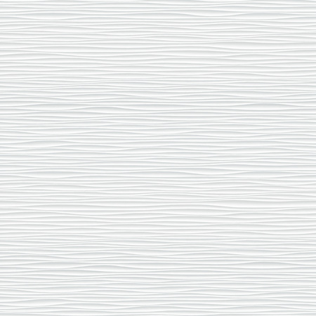 White seamless texture. Wavy background. Interior wall decoration. 3D Vector interior wall panel pattern. Vector white background of abstract waves. 矢量图像