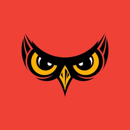 black beak: Vector illustration of owl eyes and beak  background