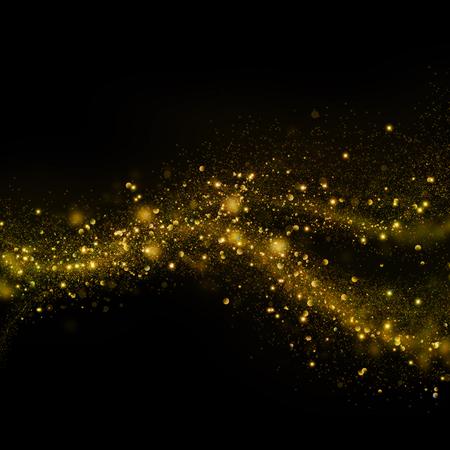 Glittering stella bokeh polvere su sfondo nero Archivio Fotografico - 46812268