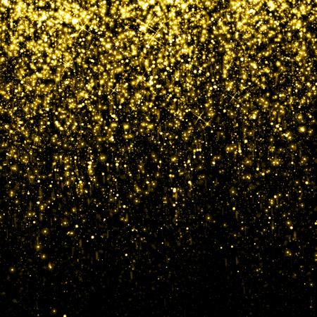 ゴールドに輝いてキラキラ背景