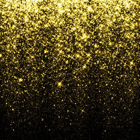 polvo: Chispa Oro fondo del brillo Foto de archivo