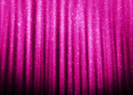 Rosa Schein-Funkeln Vorhänge Hintergrund. Standard-Bild - 46812174