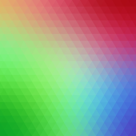 pressed: Multicolored polygonal pressed pattern background. Geometric wattled retro mosaic.