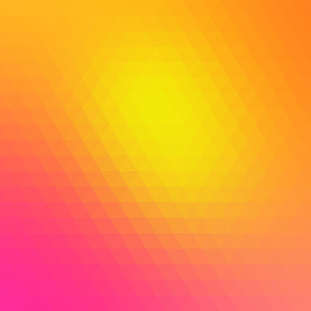 wattled: Multicolored polygonal pressed pattern background. Geometric wattled retro mosaic.