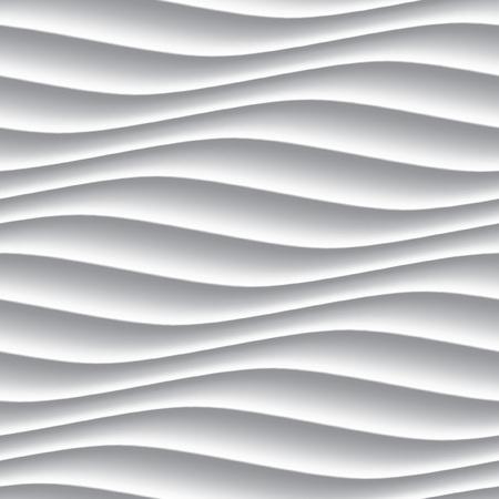 白パネル波状シームレスなテクスチャです。インテリアの質感の壁の装飾。 写真素材 - 46812124