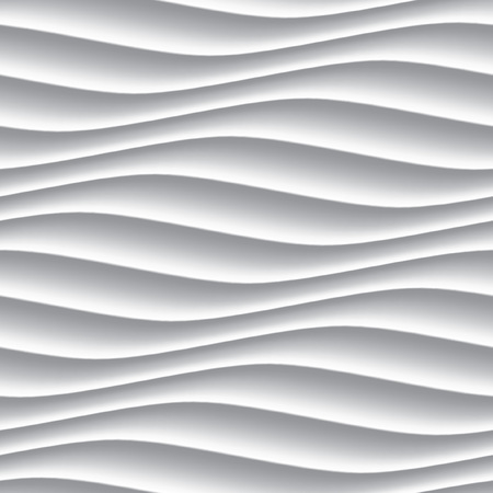 wall decoration: White panel wavy seamless texture. interior textured wall decoration.