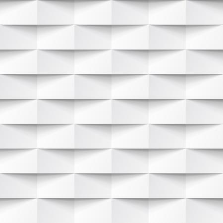 白いシームレスな幾何学的なテクスチャー。内側の多角形の壁パネル パターン。  イラスト・ベクター素材