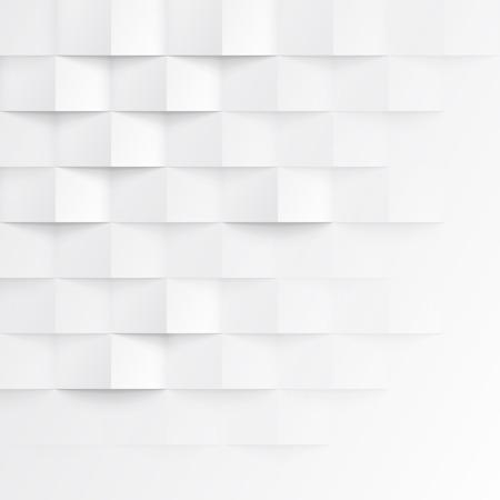 forme geometrique: Blanc texture géométrique parfaite. modèle de panneau de mur polygonal intérieur. Illustration