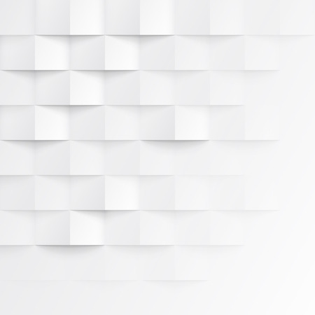 White seamless geometric texture. interior polygonal wall panel pattern. Stok Fotoğraf - 46812135
