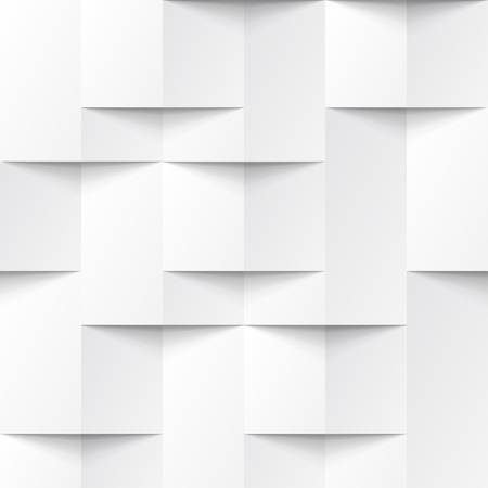White seamless geometric texture. interior polygonal wall panel pattern.