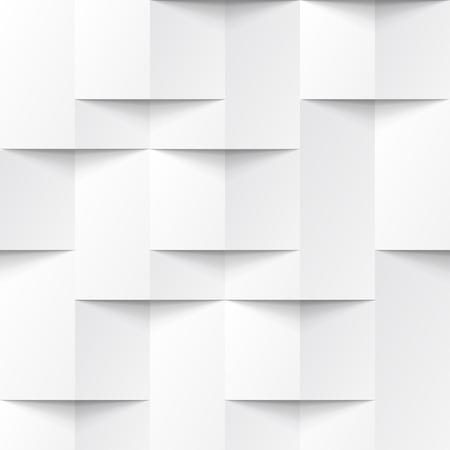 abstrakcja: Biały bez szwu geometryczne tekstury. Wnętrze wielokątne wzór paneli ściennych.