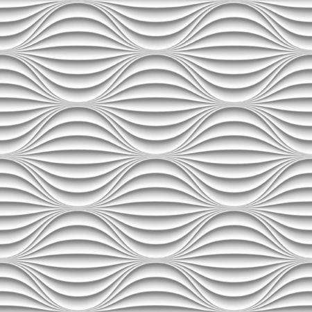 interior decoration: White panel wavy seamless texture. interior textured wall decoration.
