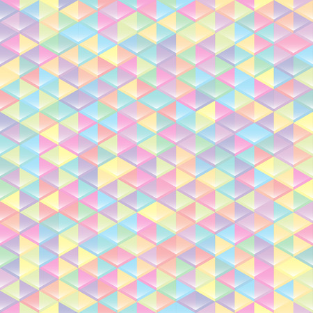 Colored seamless geometric texture. interior polygonal wall panel pattern.
