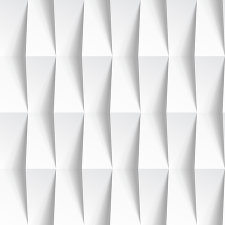 White seamless geometric texture. interior polygonal wall panel pattern. Stock Vector - 46812045