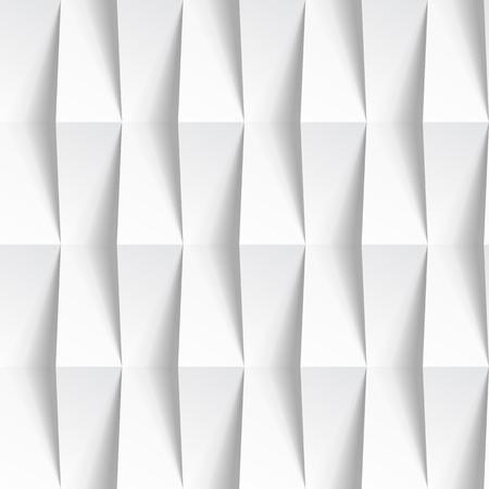 Witte naadloze geometrische textuur. interieur veelhoekige muur paneel patroon.