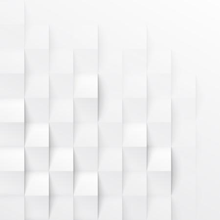 textura: Textura blanca geométrica perfecta. modelo panel pared poligonal interior. Vectores