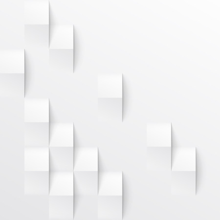 White seamless geometric texture. interior polygonal wall panel pattern.
