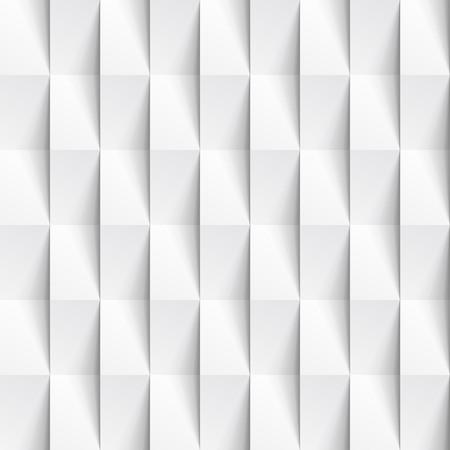 白いシームレスな幾何学的なテクスチャー。多角形の内壁パネル パターン。