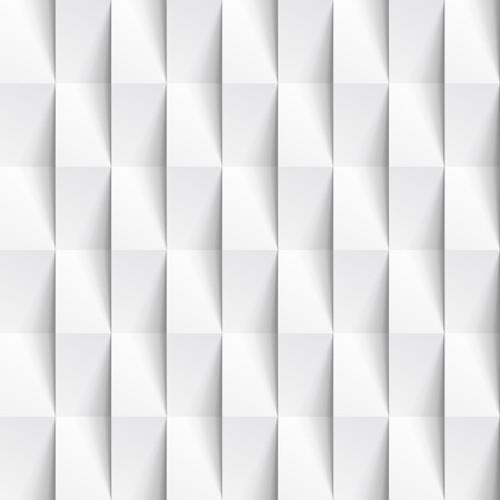 Weiß Nahtlose Geometrische Textur. Innen Polygonalen Wandplatte Muster.