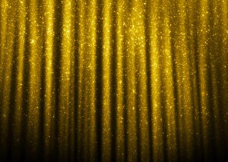 Gold sparkle glitter curtains background.