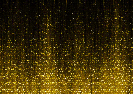 luxuries: Gold sparkle glitter fire sound wave background.