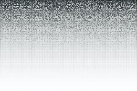 paillette: Gradient silver gray seamless shimmer background with shiny round paillettes. Sparkle glitter techno background .Gray Technology Background, vector illustration Illustration