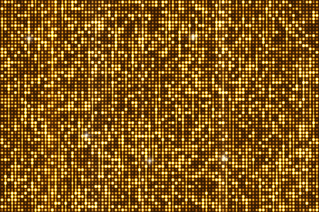 Gold seamless shimmer sequins background. Shiny silver and black paillettes on glittering dackground Illustration