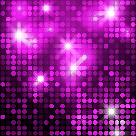 backdrop: Pink shimmer sequins background. Shiny silver and black paillettes on glittering dackground
