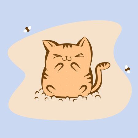 toilet paper art: Cat toilet concept artwork clip-art