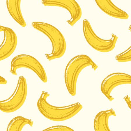 Vector seamless bananas background pattern