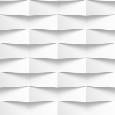 Abstract 3d geometric white panel background.