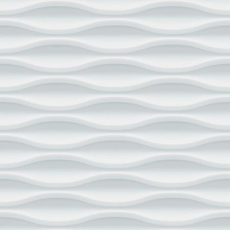 ceramiki: Biały bez szwu tekstury. Faliste tle. Wnętrze dekoracja ścienna. Wektor wnętrze wzór panelu.