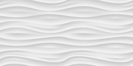 White seamless texture. Wavy background. Interior wall decoration. Vector interior panel pattern.