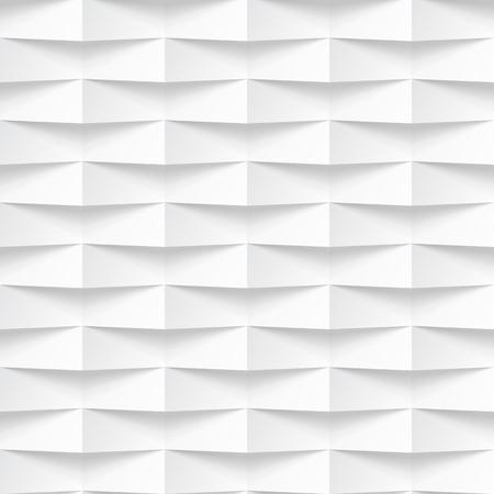 Witte naadloze textuur. Golvende achtergrond. Interieur wanddecoratie. Vector interieur paneel patroon. Stock Illustratie