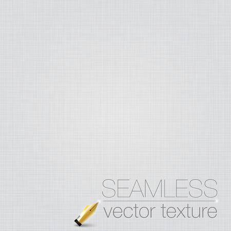 White seamless linen background texture. Illustration