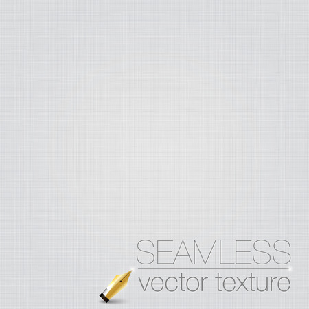 White seamless linen background texture. Stock Illustratie