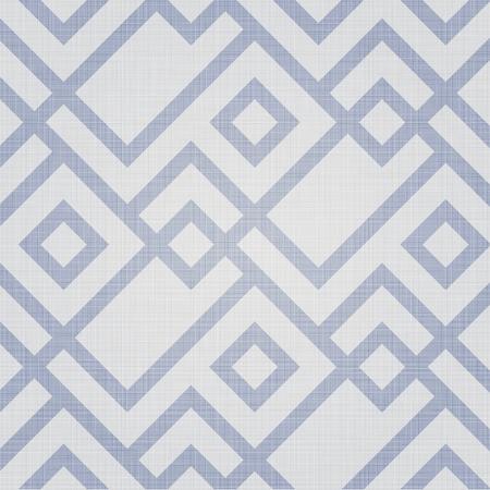 Retro geometric polygonal zigzag parquet seamless pattern