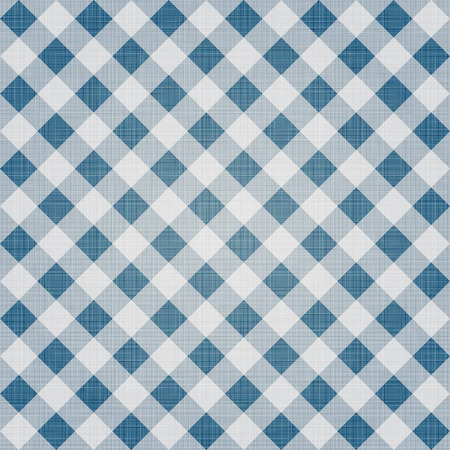 textile background: Seamless textile cloth pattern. Checkered ornament. Retro geometric background.
