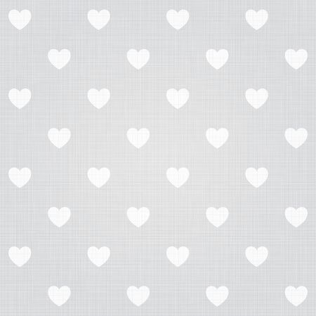 decoratively: Seamless hearts pattern with linen retro texture