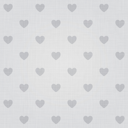 heart background: Seamless hearts pattern with linen retro texture