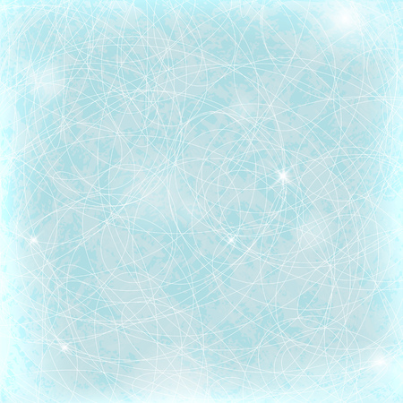 rink: Ice background with scratched lines. skating rink Illustration