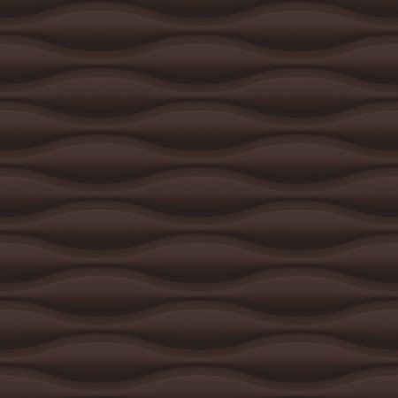 interior decoration: Brown seamless texture. Wavy background. Interior wall decoration. Vector interior panel pattern.