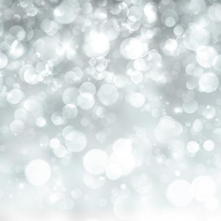 blue christmas lights: Defocused abstract background of defocused light Stock Photo
