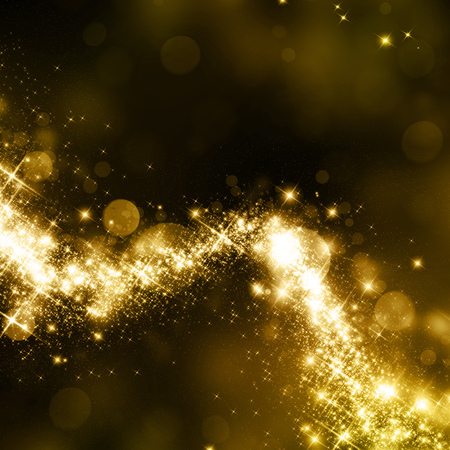 are gold: Gold glittering stars dust trail background