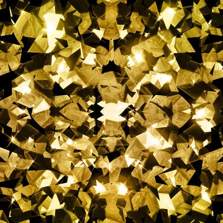fractals: Gold crystal sparkling fractals background