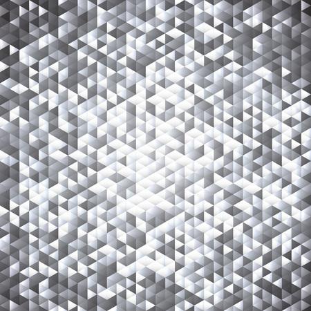 Silver gray glittering lamina sequins mosaic angular dimensional pattern. Illustration