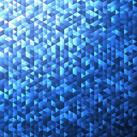 angular: Blue glittering lamina sequins mosaic angular dimensional pattern.